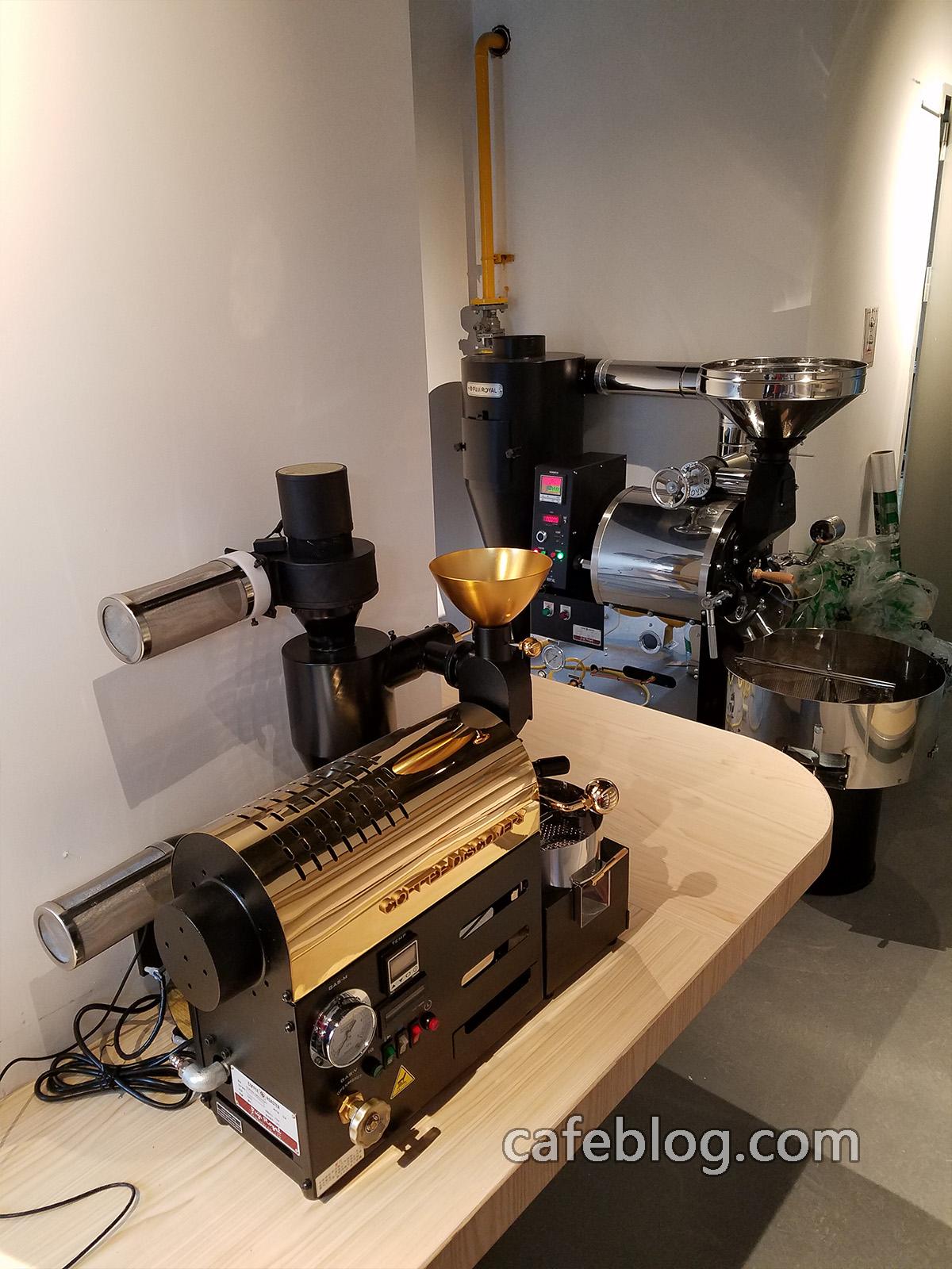 富士皇家DISCOVERY(250克)咖啡烘焙机和富士皇家R-105(5公斤)咖啡烘焙机