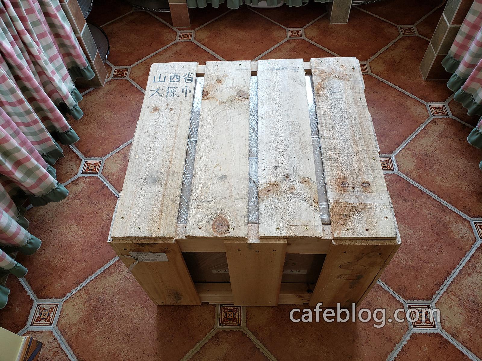 本次安装地址是山西省太原市的个人客户 - 打木架的DISCOVERY咖啡烘焙机到了客户家里了。