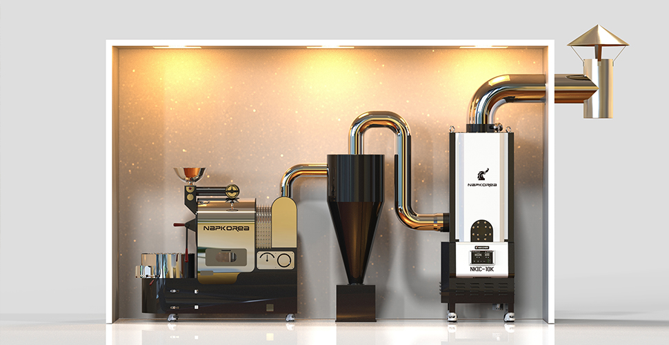 后燃 (后燃,通称为后燃机。消除咖啡烘焙机排放的烟和异味)